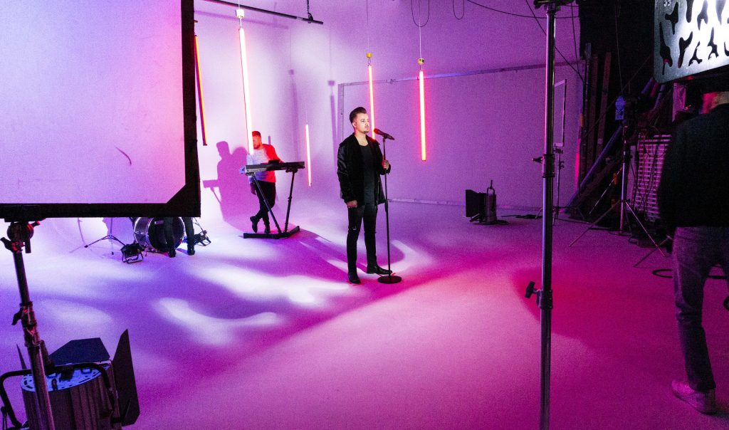 Behind the Scenes of a music video shoot in the Westside Studios