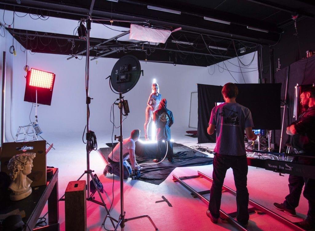Making of aus einer Filmproduktion eines Musikvideos